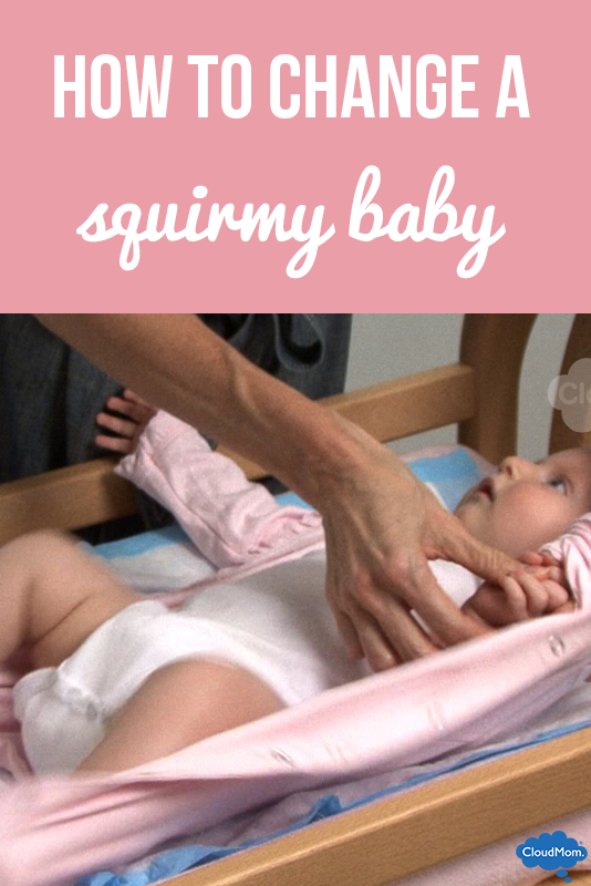 How to Change Baby Clothes on a Squirmy Baby