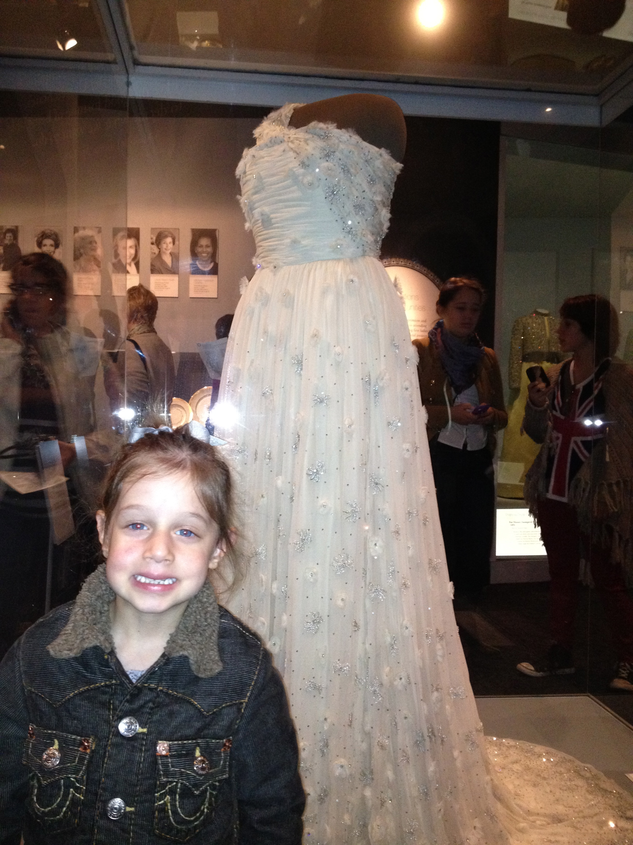 Annaliese with the First Lady's Inaugural Gown