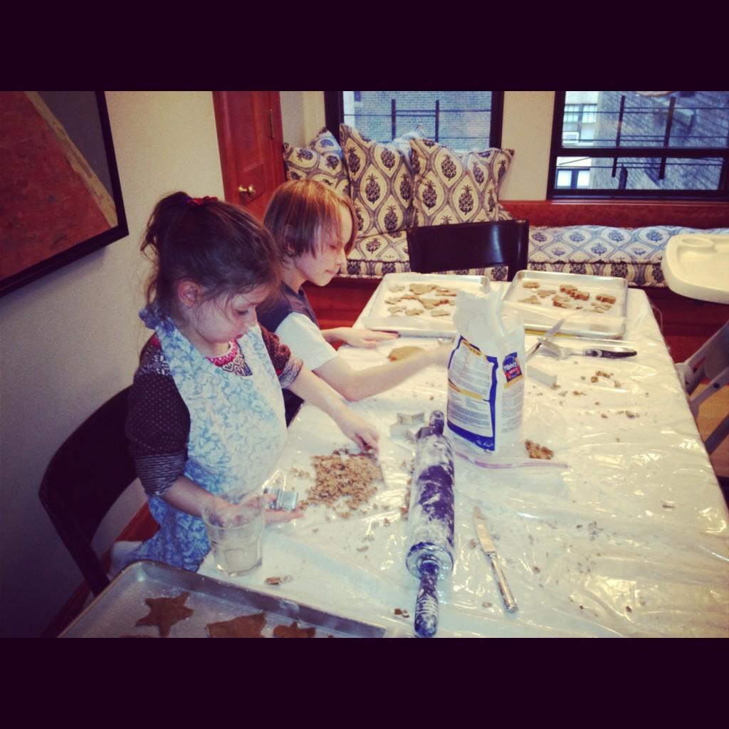 Annaliese making gingerbread cookies