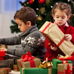 kids opening gifts