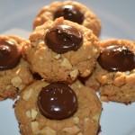 almond buttet thumbprint cookies