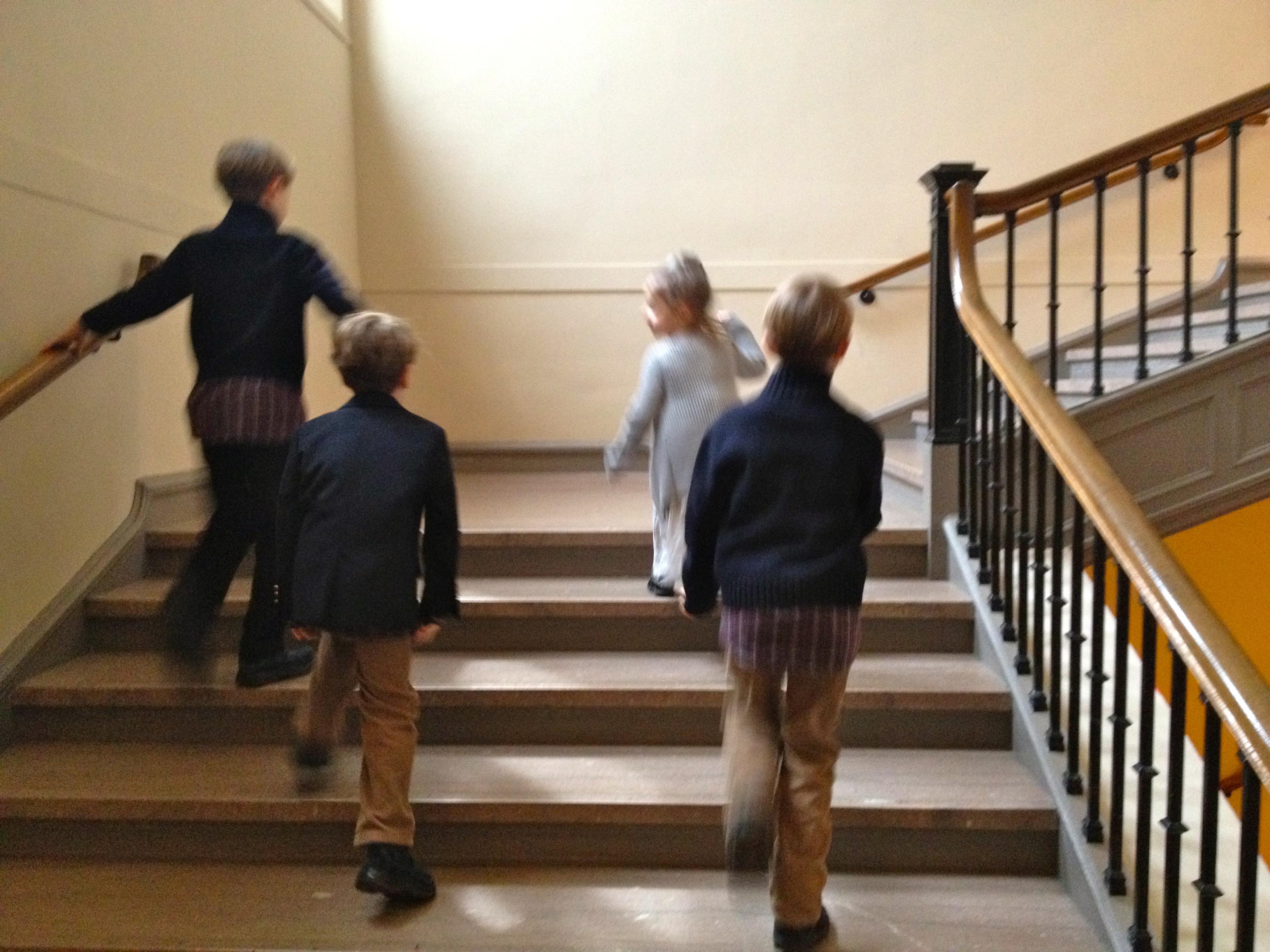 Kids Walking in Museum