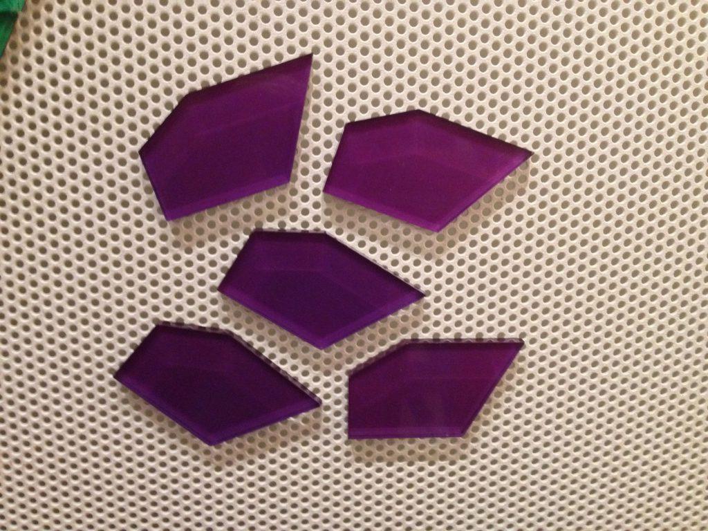 Purple Pentagons