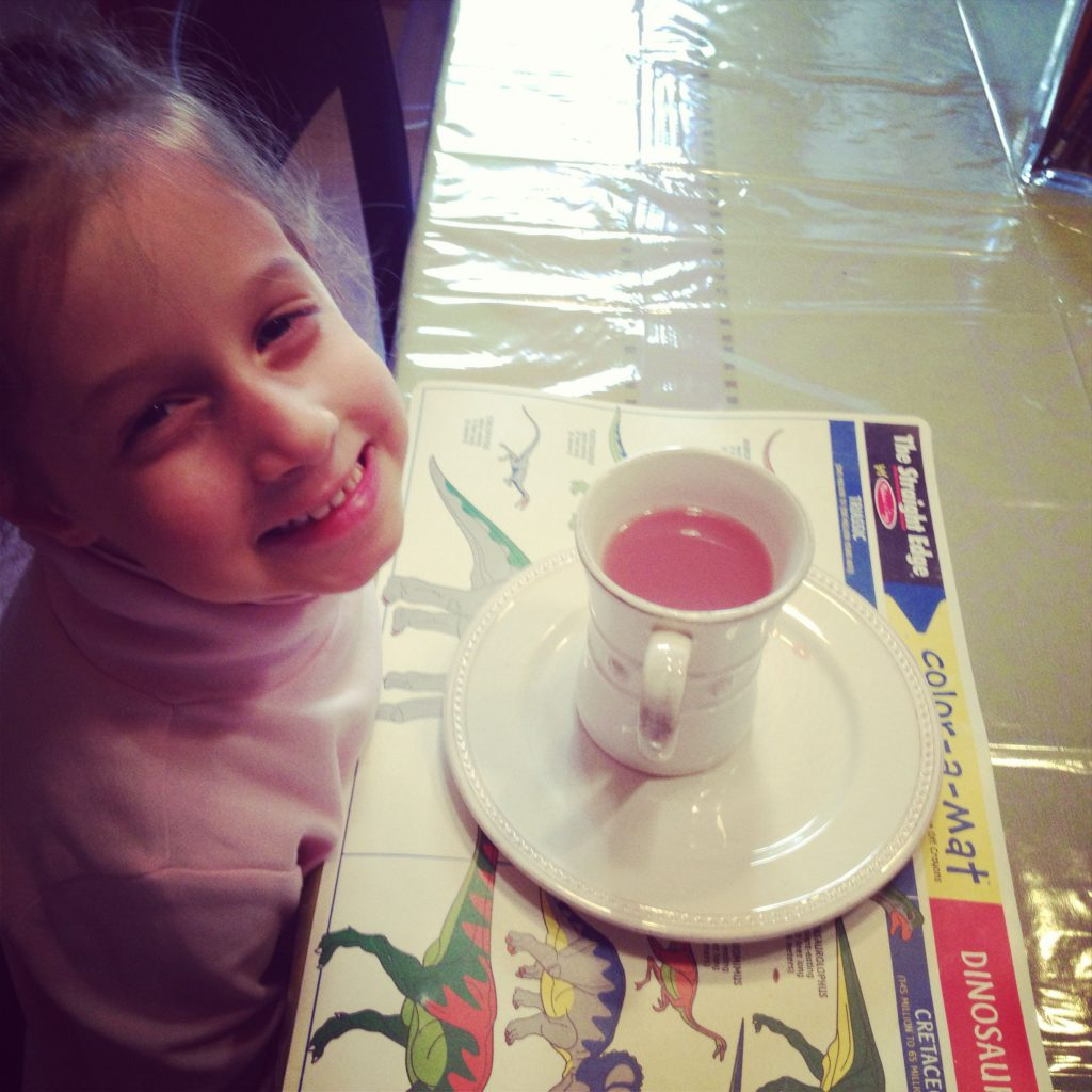 Annaliese with pink tea