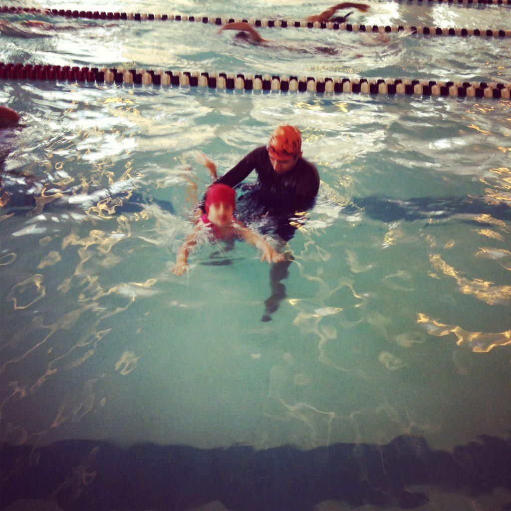 Annaliese swimming by herself