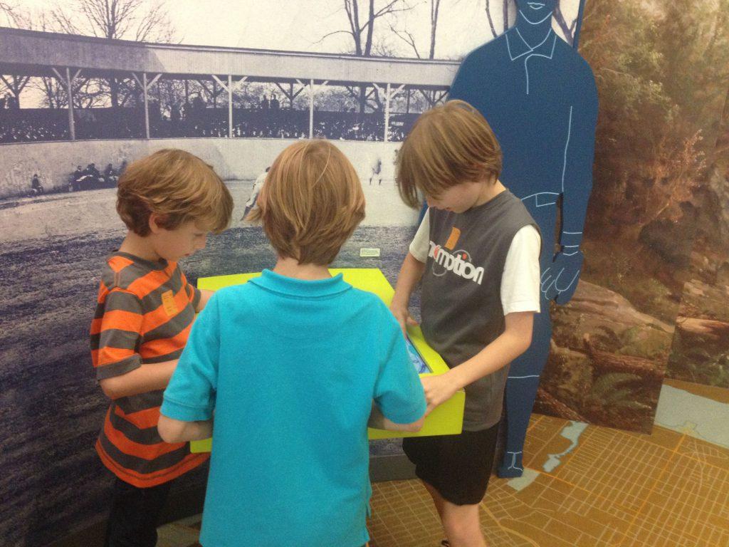 Boys Playing at National Historical Society