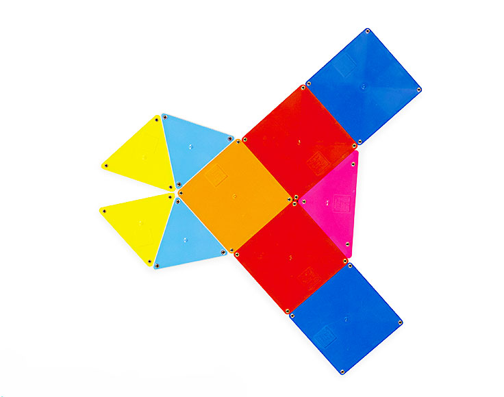 magna tiles solid color platset for kids