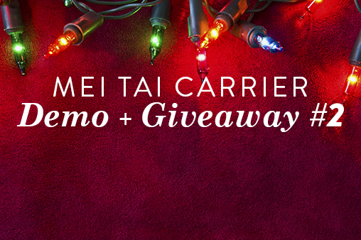 mei tai carrier demo giveaway 2