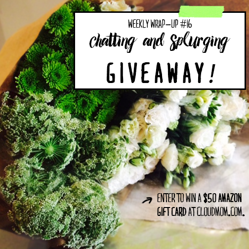 Weekly Wrap Up #16 – Chatting and Splurging | CloudMom