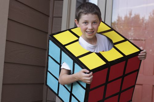 Rubik's cube costume for kids