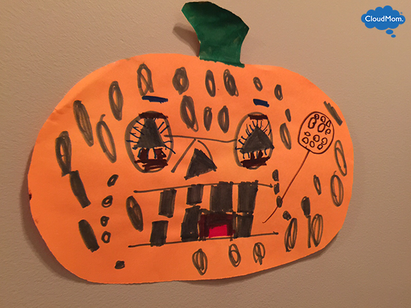 halloween craft for kids pumpkin decorating craft
