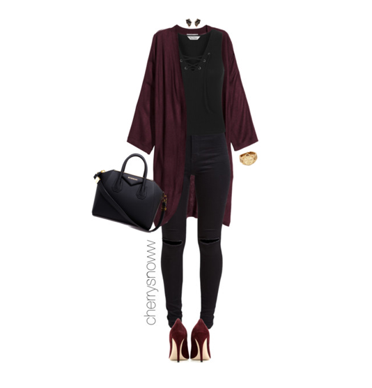 Classy-chic-black-and-burgundy-fall-outfit