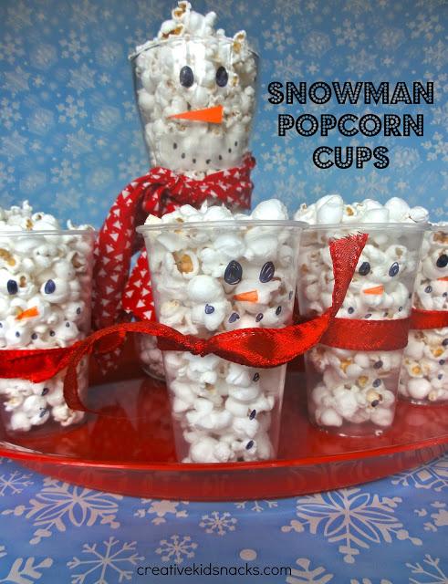 snowman popcorn cup