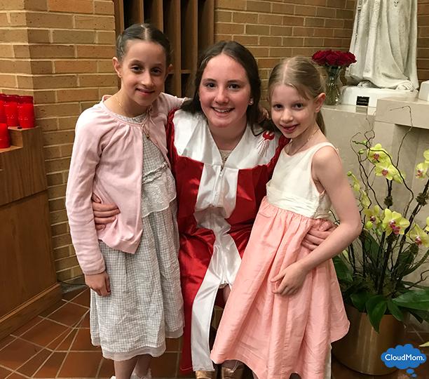 family at catholic confirmation