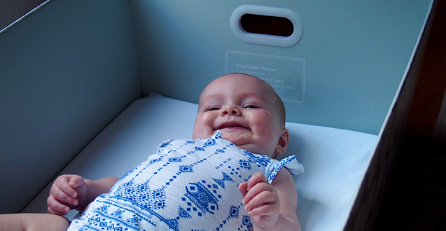 Pip & Grow's Smitten Baby Bassinet