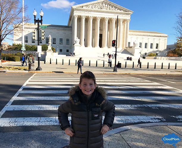 Washington Supreme Court with kids