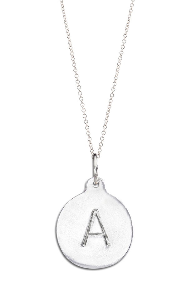 Helen Ficalora Sterling Silver Alphabet Charm Necklace