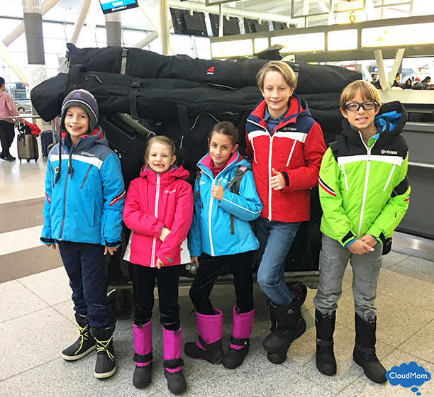 packing for a family ski trip