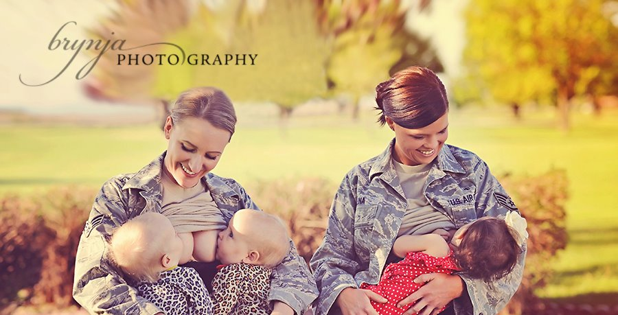 Salute to Breastfeeding Military Moms