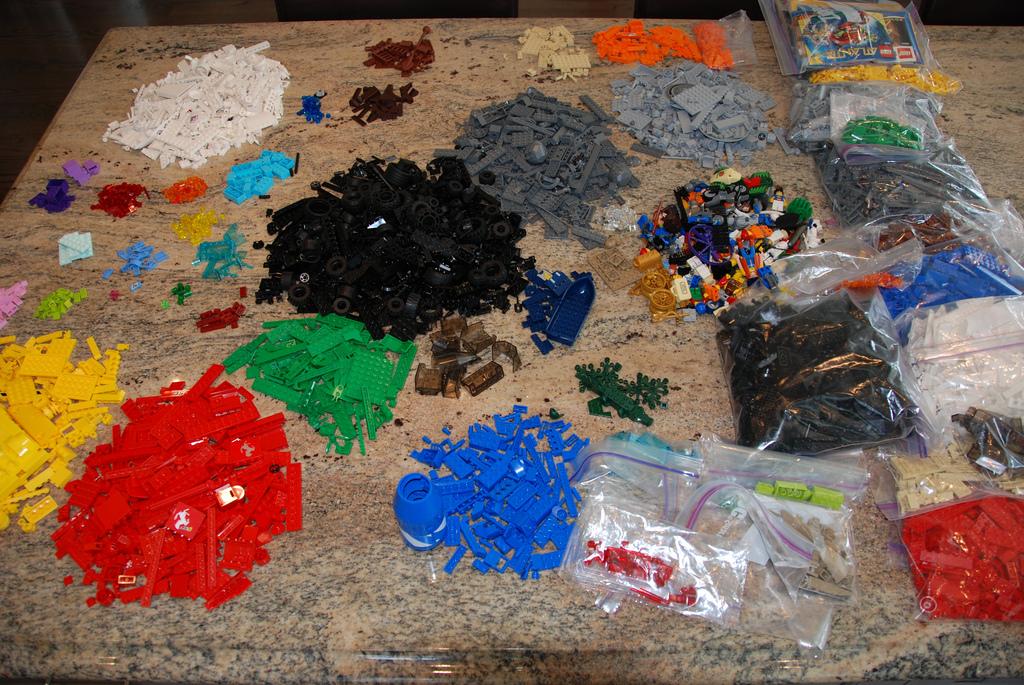 Organizing our Legos.