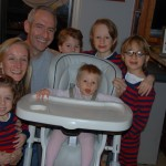 My husband Marc and I with our five children.