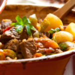 Recipe for delicious beef stew.