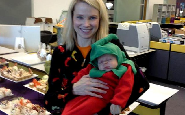 "Marissa Mayer said her baby is ""easy."""