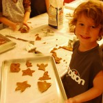 Making gingerbread cookies with your kids.