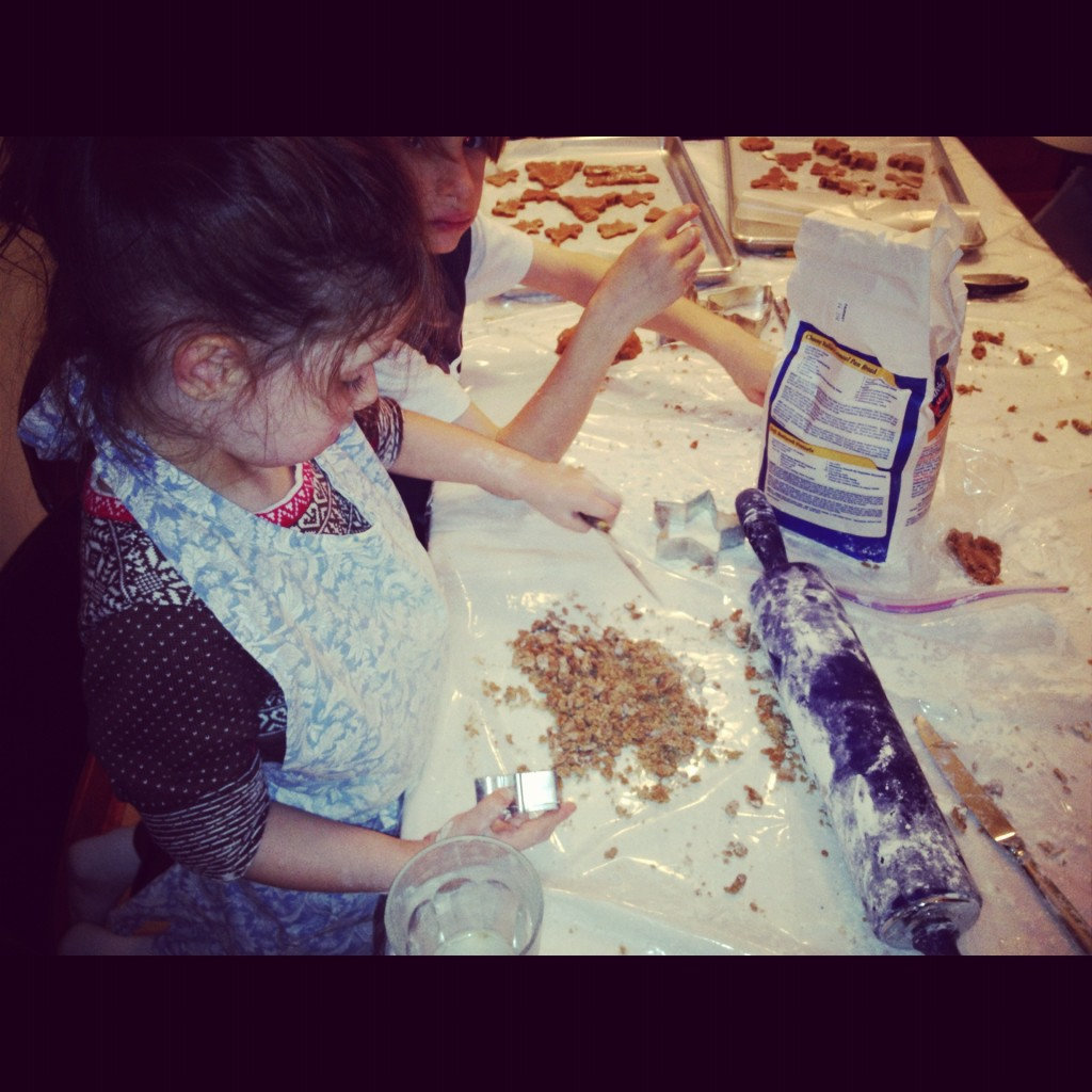 Gingerbread cookies Annaliese with mealy dough