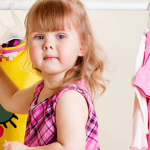 dressing a toddler