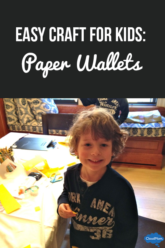 Fun Easy Crafts for Kids: Paper Wallets