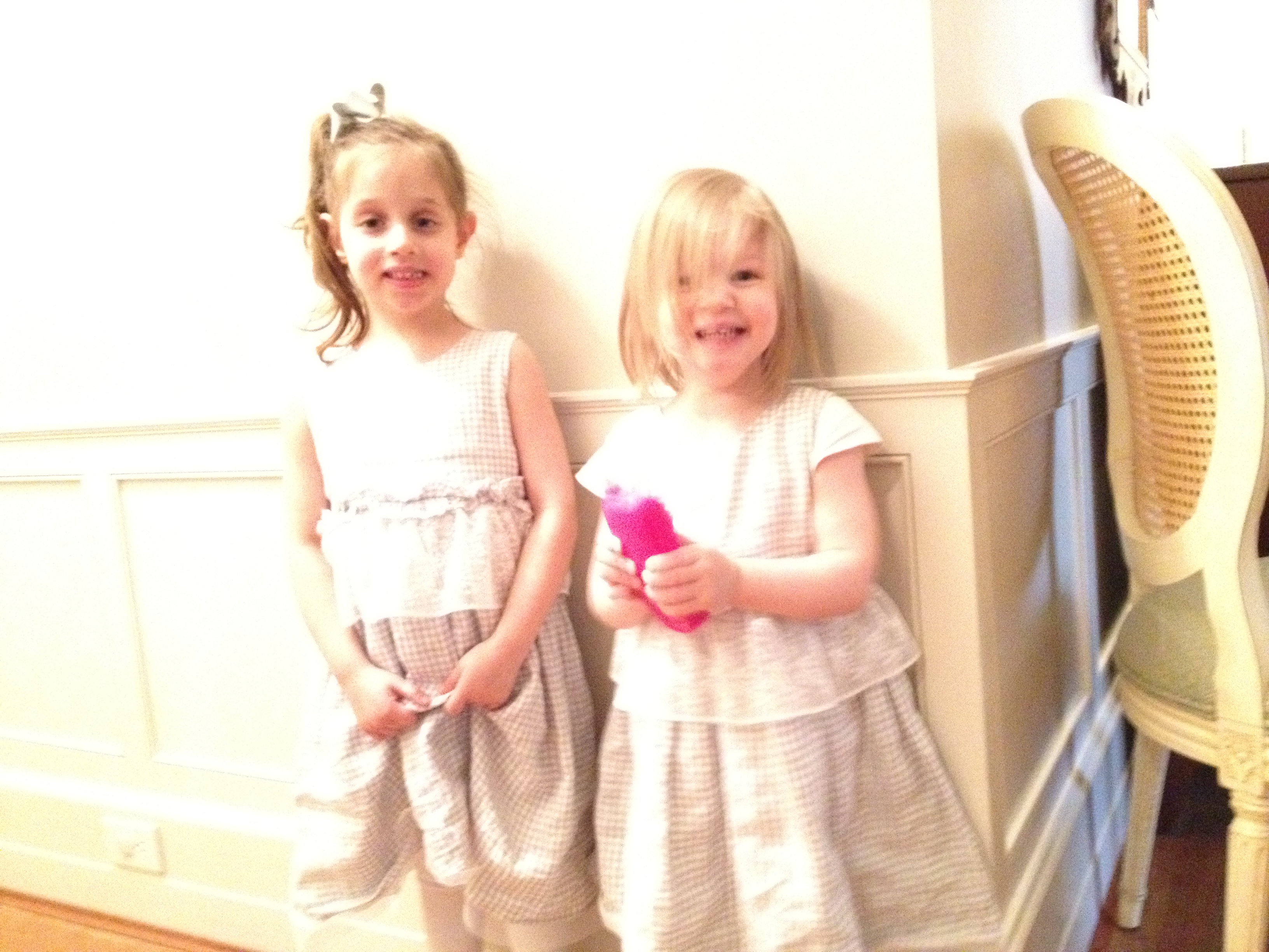 Annaliese and Marielle Easter dresses