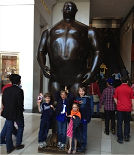 Kids with Sculpture