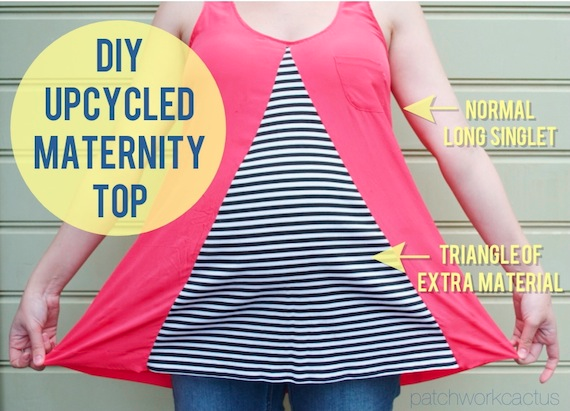 upcycled maternity clothes