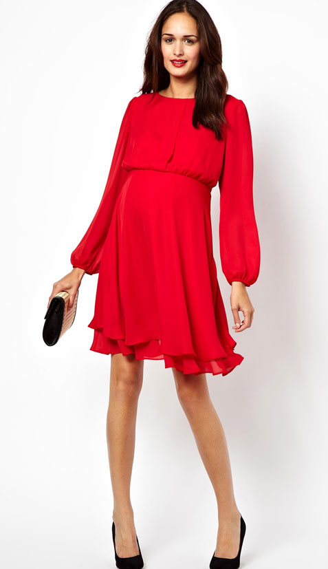Asos-red-maternity