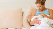 Woman Breastfeeding Baby