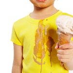 kid and ice cream mess