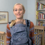 How to Carry your Newborn Infant with the Beco Soleil Baby Carrier - Legs In Position
