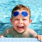 kid swimming