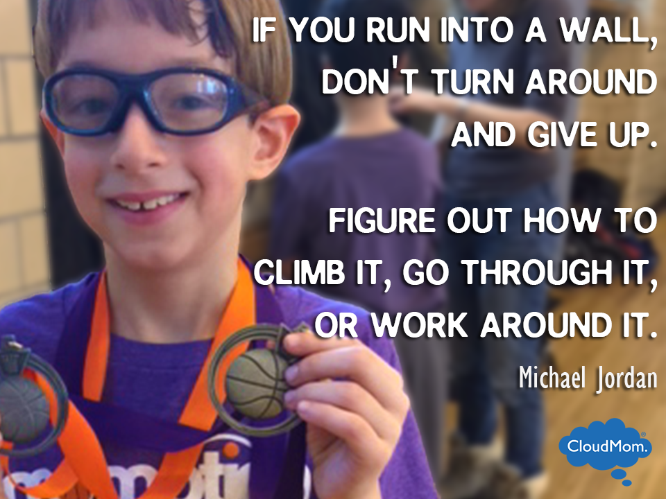 If you run into a wall, don't turn around and give up. Figure out how to climb it, go through it or work around it. - Michael Jordan