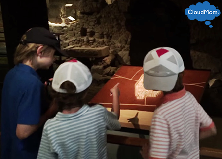 Barcelona History Museum and kids