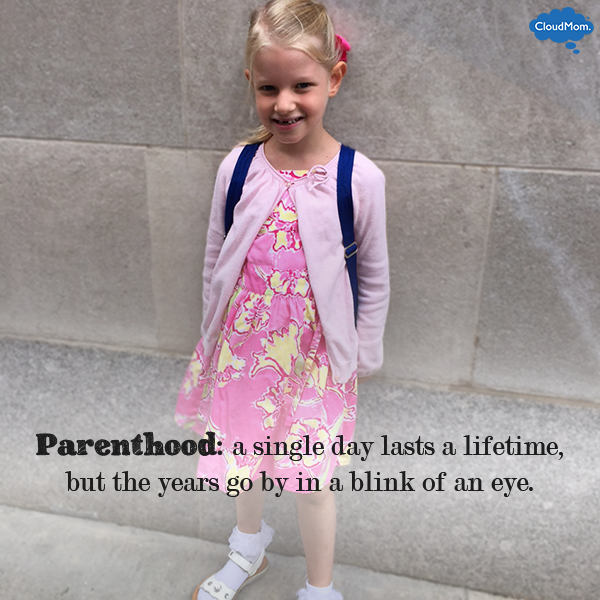 Parenthood: a single day lasts a lifetime, but the years go by in a blink of an eye.