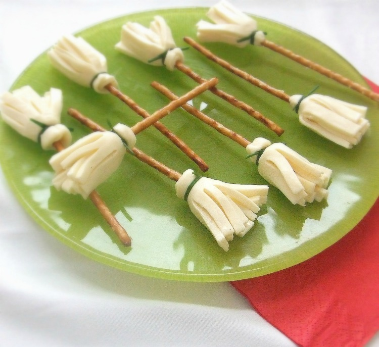 Witchy String-Cheese Broomsticks