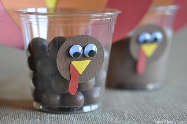 Turkey Cups Craft for Kids