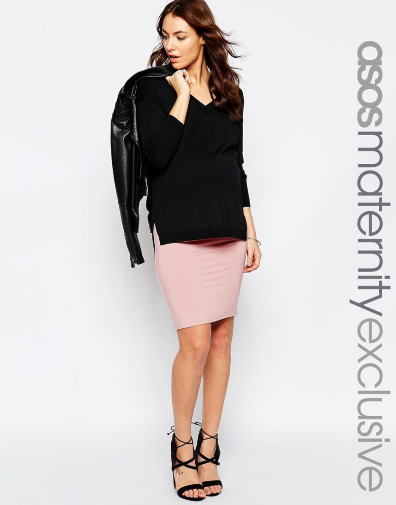 Maternity Midi Pencil Skirt