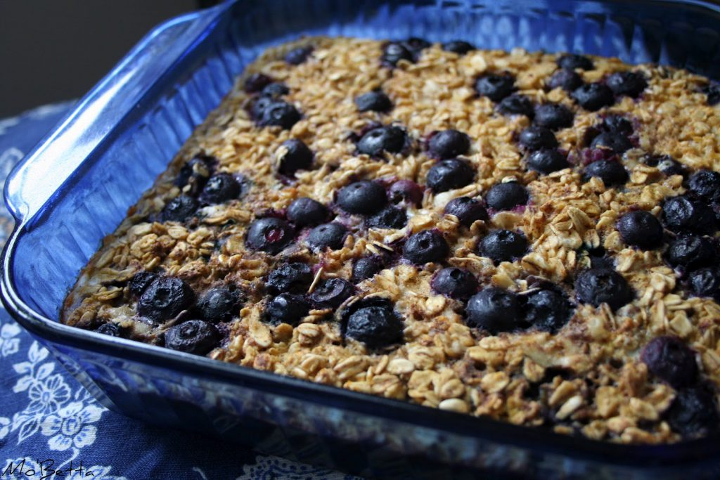 Meyer Lemon Blueberry Baked Oatmeal