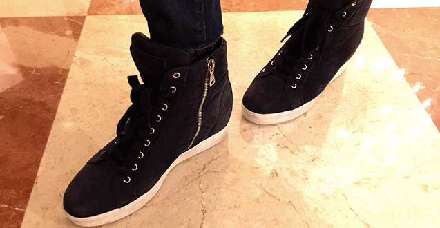 Mom Fashion: Navy Suede High Tops