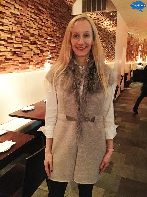 Mom Fashion: Fur-Collared Sweater Vest