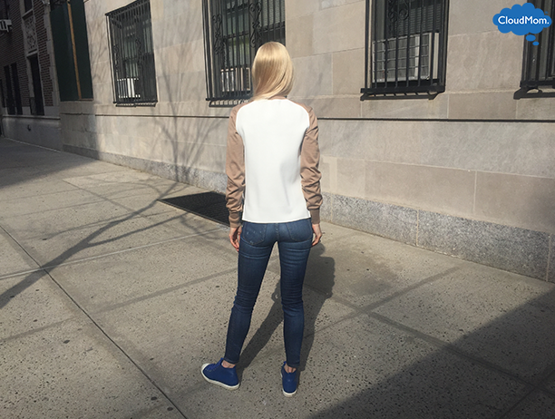 Outfits with Jeans: White & Beige Spring Sweater