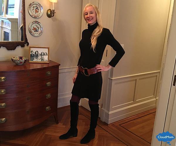 black Club Monaco sweater dress